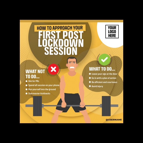 How To Approach Your First Session Post Lockdown